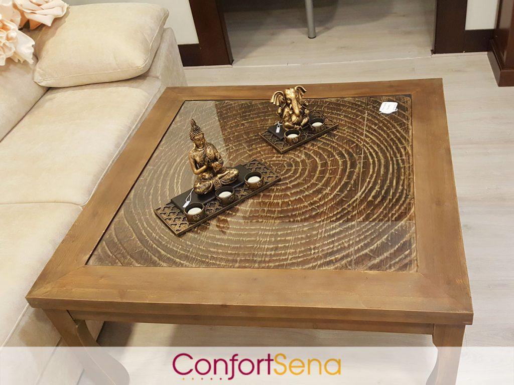mesa de centro de madera en Granada