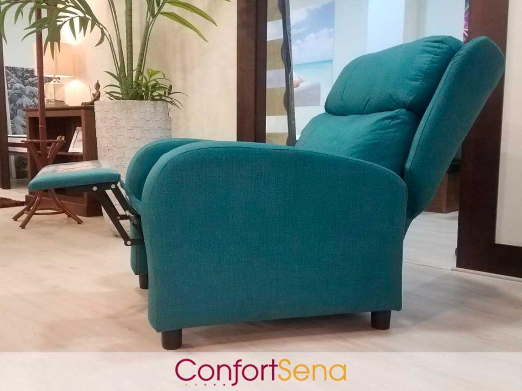 sillón en oferta en Granada con respaldo reclinable y asiento extensible