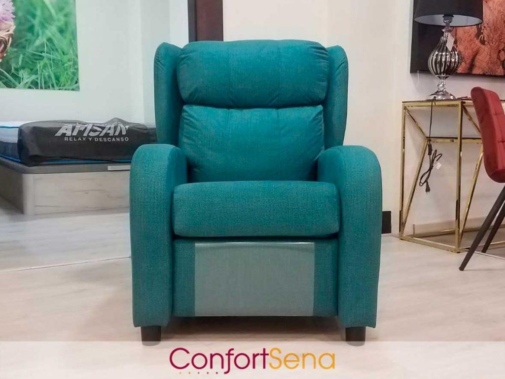 sillón relajante en Granada con respaldo reclinable azul en oferta