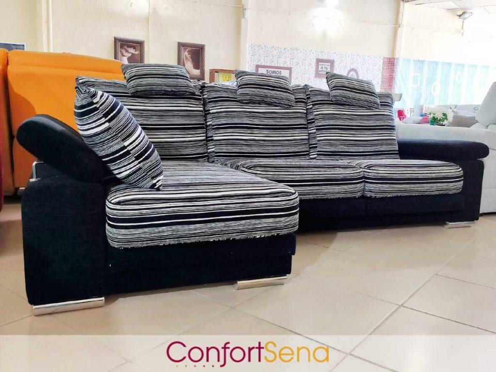 oferta de sofá de rayas con chaise longue en Granada