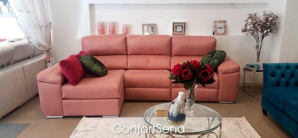 sofá con chaise longue en Granada de la mejor calidad mejor precio y a medida