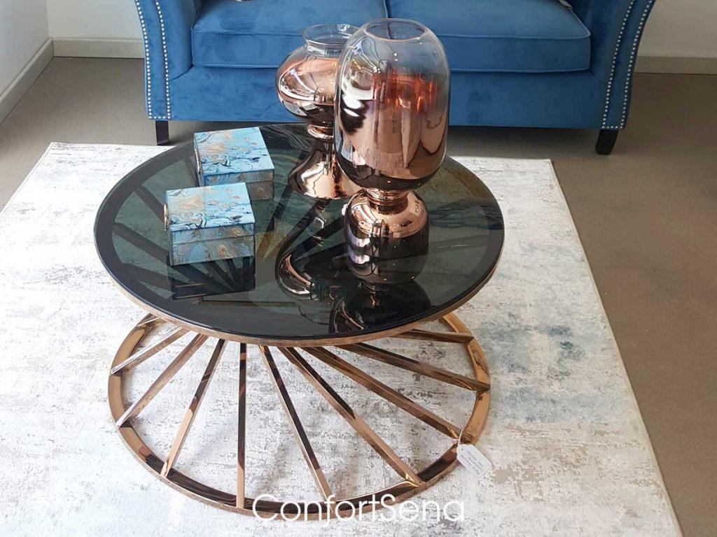 mesa de cristal y metálica en Granada en tienda Confortsena