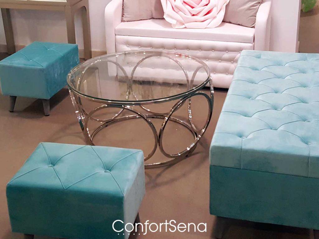mesa de cristal en Granada en tienda Confortsena