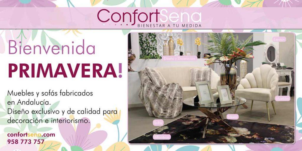 temporada de muebles y sofás en Granada fabricados en Andalucía
